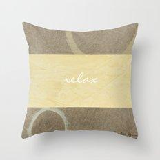 Relax Modern Art w/ Signature Throw Pillow