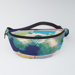 Washed Out Snowball Branch Collage (IV) Fanny Pack