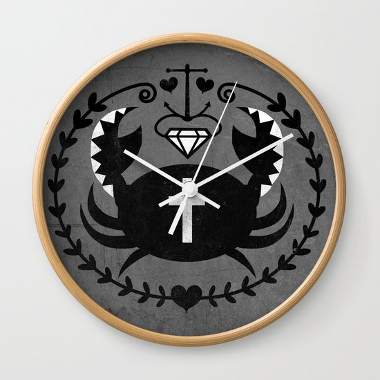 The Diamond Crab Wall Clock