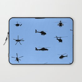 Helicopter Pattern Laptop Sleeve