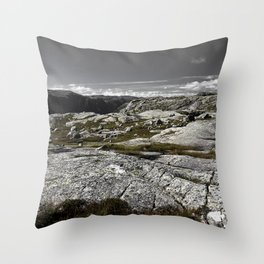 Sirdal Landscape, Norway Throw Pillow