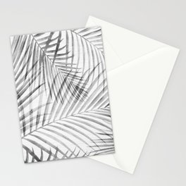 Black and White Tropical Palms Stationery Cards