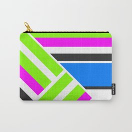Geometric pattern, Striped triangles 3 Carry-All Pouch