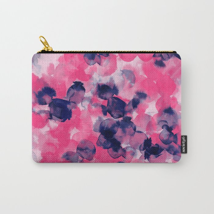 Filigree (Pink  & Indigo) Carry-All Pouch