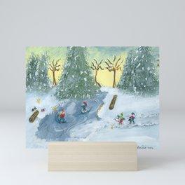 Ice Skaters Mini Art Print