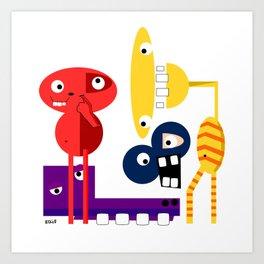 A Group of Friends Art Print