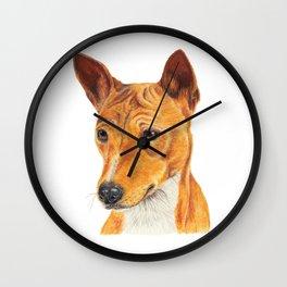 Basenji Wall Clock