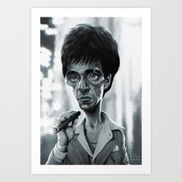 scarface Art Prints featuring Scarface by Nicolas Villeminot
