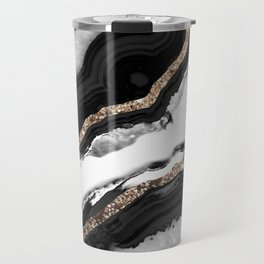Agate Glitter Glam #2 #gem #decor #art #society6 Travel Mug