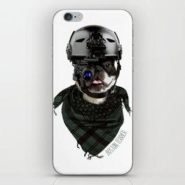 Boston Terrier in Warfare iPhone Skin