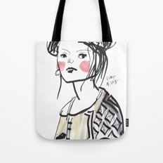 Gwen - Hipster Girl in Marker and Gouache Tote Bag