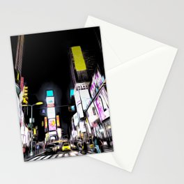 Times Square New York Art Stationery Cards