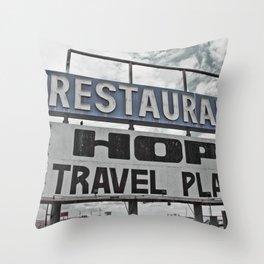 Restaurant Hopi Travel Plaza Throw Pillow