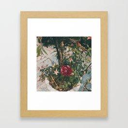 Simple garden Framed Art Print