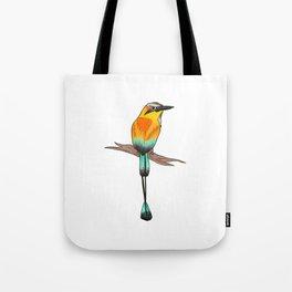 Motmot Bird Water Color & Ink Illustration Tote Bag