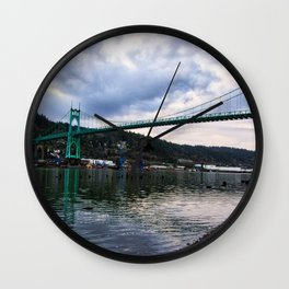 St. Johns Bridge Wall Clock