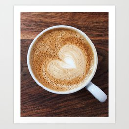Heart of Coffee Art Print