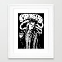 ben giles Framed Art Prints featuring Randy Giles by Laura Birdsall