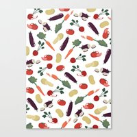 vegetable Canvas Prints featuring Vegetable by Ceren Aksu Dikenci