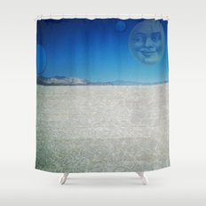 Playa Moon Shower Curtain