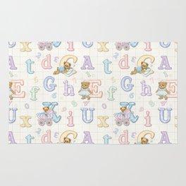 Teddy Bear Alphabet ABC's Rug