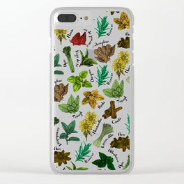 Tea Flavors // assorted teas for your enjoyment Clear iPhone Case