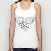 brompton Tank Tops featuring I Love My Bike by Wyatt Design