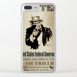 Wanted Poster Clear iPhone Case