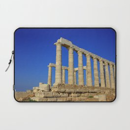 Temple of Poseidon in Sounion near Athens (Greece) Laptop Sleeve
