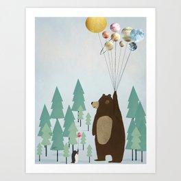 the astrology bear Art Print