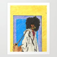 Bag Lady Art Print