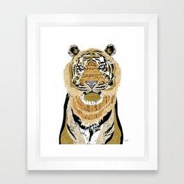 Tiger Collage Framed Art Print