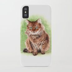Somali cat portrait iPhone X Slim Case