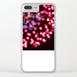 Unfocused firework Clear iPhone Case