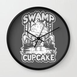 SWAMP CUPCAKE — Halloween vintage horror 80' Wall Clock