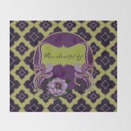 Nouveau Purple Peonies Throw Blanket