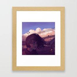 Sunset Railroad Framed Art Print