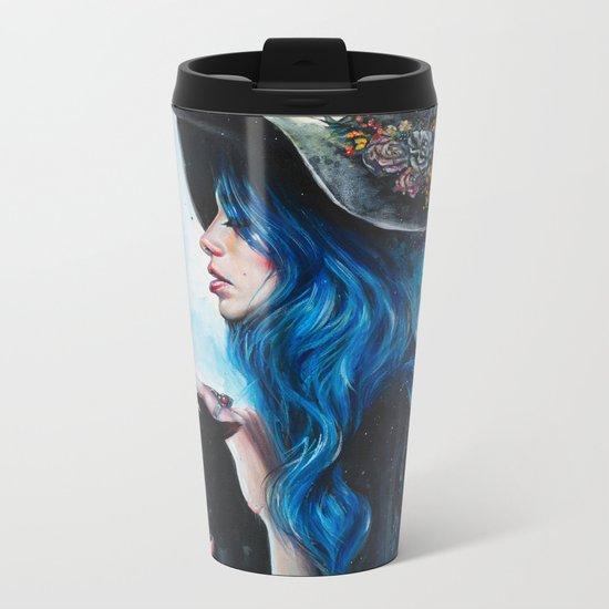Blue Valentine Metal Travel Mug