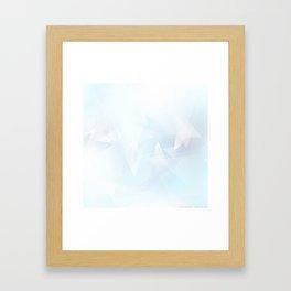 Ice Crystal Glow Framed Art Print
