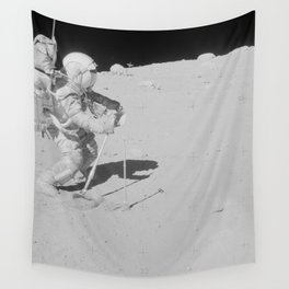 Apollo 16 - Collecting Lunar Samples Wall Tapestry