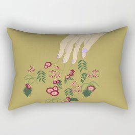 Take My Hand Gold Rectangular Pillow