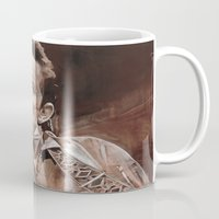 johnny cash Mugs featuring Johnny Cash by Ray Stephenson