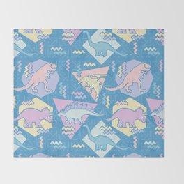 Nineties Dinosaurs Pattern  - Pastel version Throw Blanket