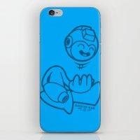 mega man iPhone & iPod Skins featuring Mega Man by La Manette