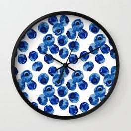Blueberry print Wall Clock