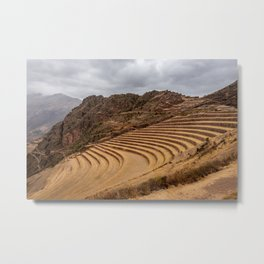 Terraced landscape of the Sacred Valley Metal Print