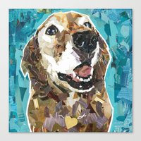 kris tate Canvas Prints featuring Tate by Maritza Hernandez