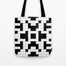 Cool Crossword Pattern Tote Bag