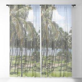 Sri Lankan Sea Shore Sheer Curtain
