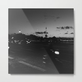 A picture of Paris at night Metal Print